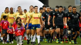 ブラジルで歴史的一戦。マオリ・オールブラックスとの熱闘に観客3万人熱狂(C)Getty …
