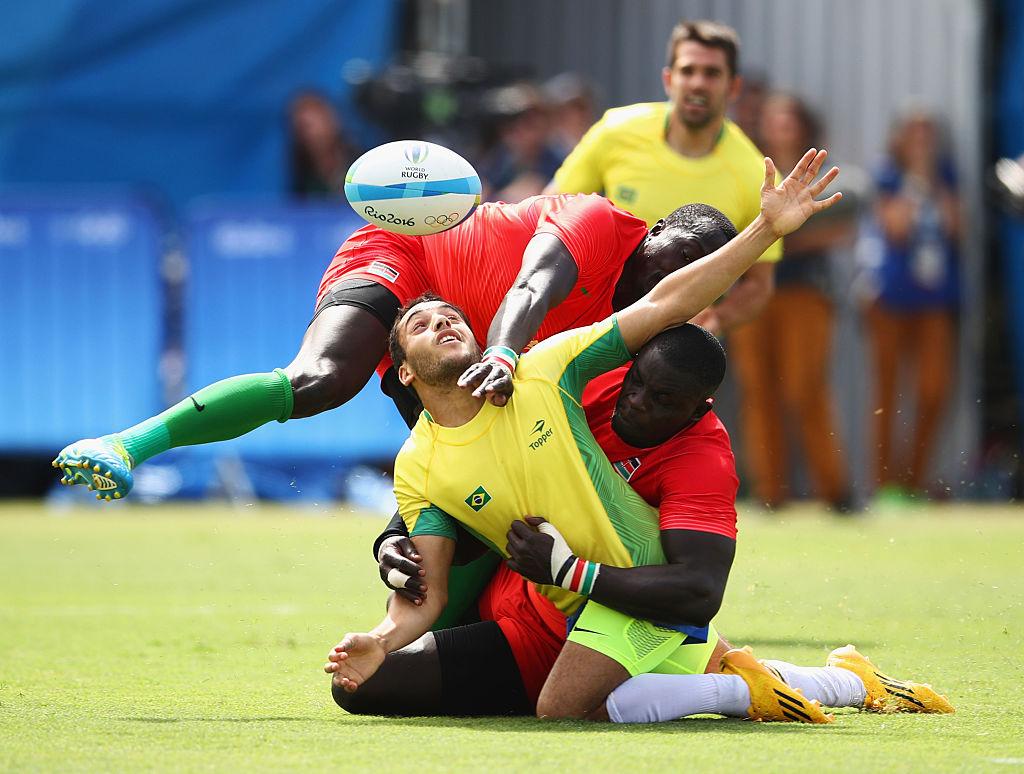 開催国ブラジル(黄色)はケニアに完敗し、最下位に終わった(C)Getty Images