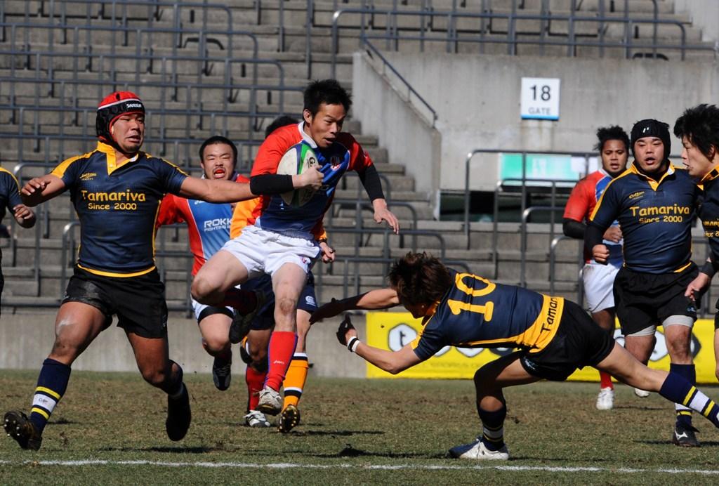 全国クラブ大会決勝戦。六甲ファイティングブルが2年ぶり5度目の日本一に輝いた(撮影:松本かおり)