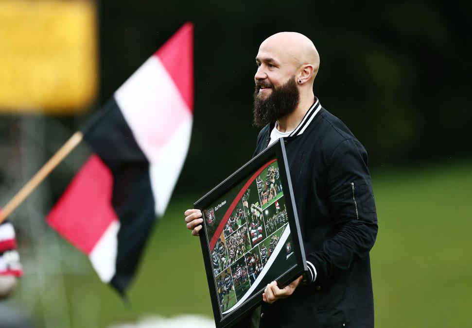 引退したDJ・フォーブス。所属していたカウンティーズ・マヌカウで記念式(C)Getty Images