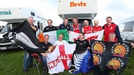 NZ代表×ブリティッシュ&アイリッシュライオンズ戦を楽しみに待つファン(C)Getty …