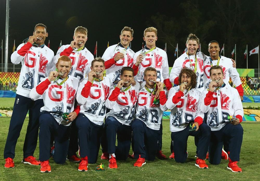 チームGB、イギリス代表はリオで銀メダル。激闘を終え、笑顔の選手たち(C)Getty Images