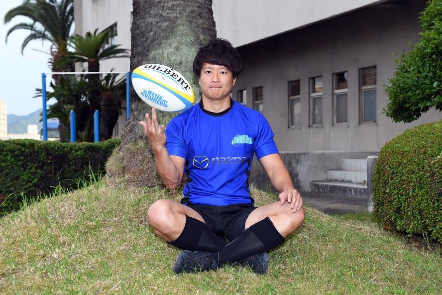 新シーズンの活躍が期待されるマツダブルーズーマーズのBK李修平(撮影:Hiroaki. UENO)