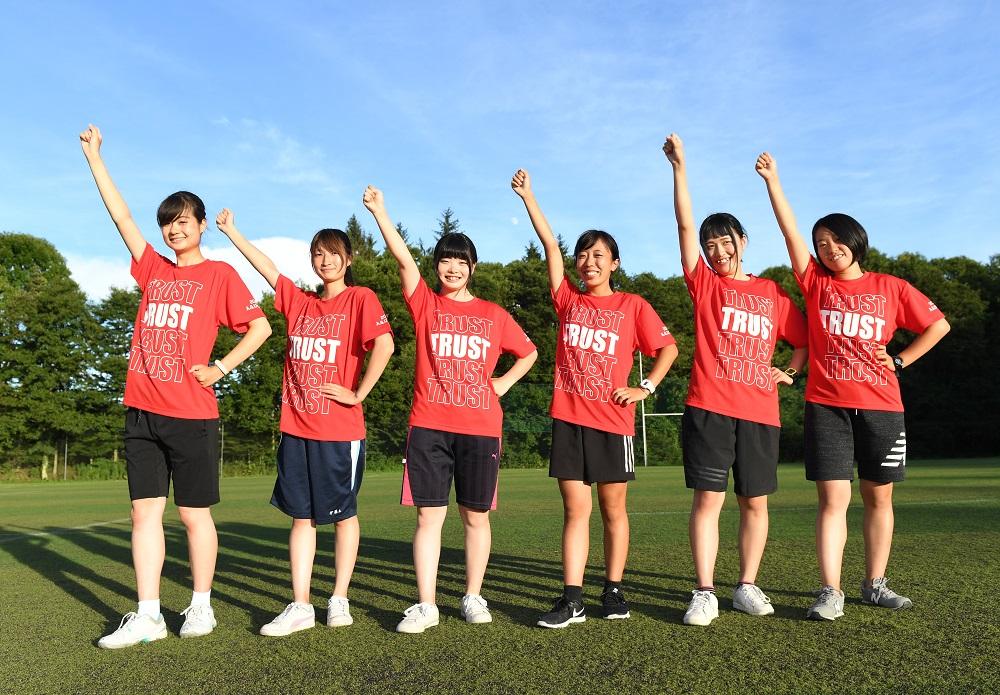 愛知学院大のMG。左から中村さん、伊藤さん、岡田さん、佐藤さん、澁谷さん、西山さん(C)H.UENO