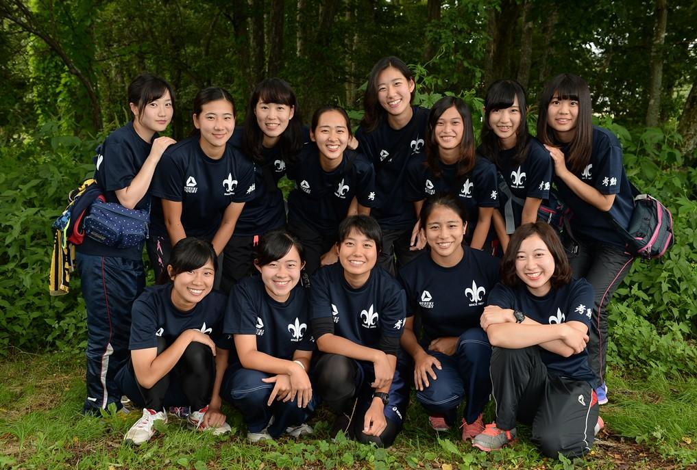 菅平で合宿を行っている立教大ラグビー部のマネージャーとトレーナー(撮影:Hiroaki. UENO)