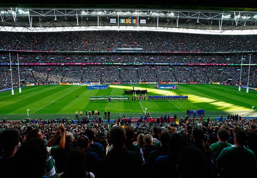 サッカーの聖地ウェンブリースタジアムでRWC最多の8万9267人が観戦(C)Getty Images