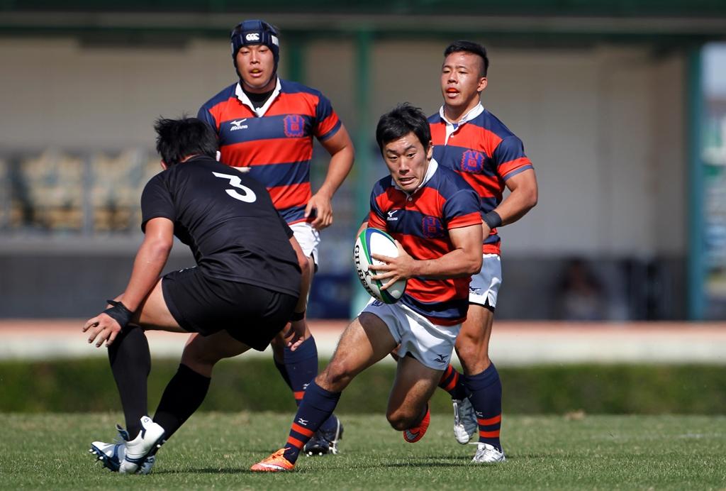 関西学院大が天理大を下し3連勝。写真はMOMに選ばれたSH徳田健太(撮影:新屋敷こずえ)