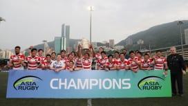 アジアラグビーチャンピオンシップ3連覇を遂げた若手主体の日本代表(撮影:出村謙知)