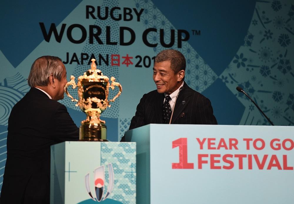 RWC2019日本大会のPRキャプテンに就任した俳優の舘ひろしさん(C)Getty Images
