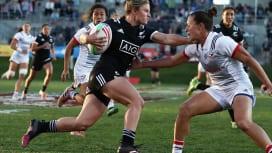 女子セブンズの新季開幕。NZのミカエラ・ブライド躍動(C)Mike Lee /World…