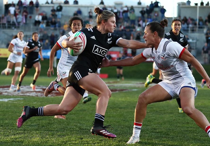 女子セブンズの新季開幕。NZのミカエラ・ブライド躍動(C)Mike Lee /World Rugby