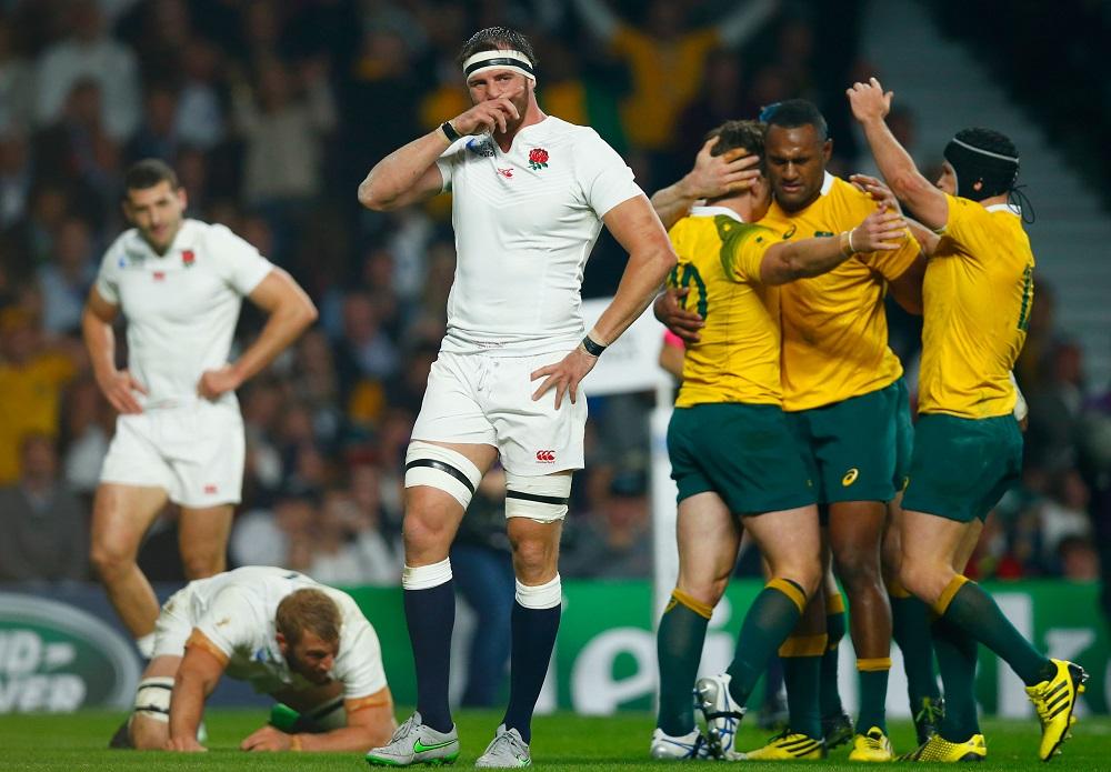 W杯開催国のイングランドは豪州に敗れ、屈辱的なプールステージ敗退(C)Getty Images