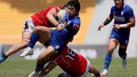 アジアチャンピオンシップ第5節。香港代表が敵地で韓国代表に43−17で勝利(撮影:出村謙…
