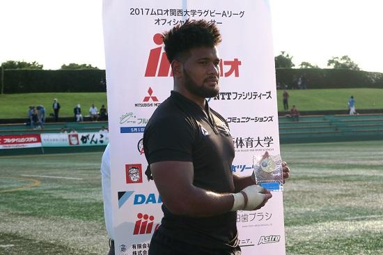関西Aリーグは天理大が開幕2連勝で首位。関西学院大に47−0と圧勝。