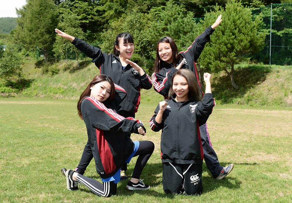 福岡大MG。左前が吉井さん、右が横山さん、左奥が濱崎さん、右が平田さん(C)Hiroaki.UENO