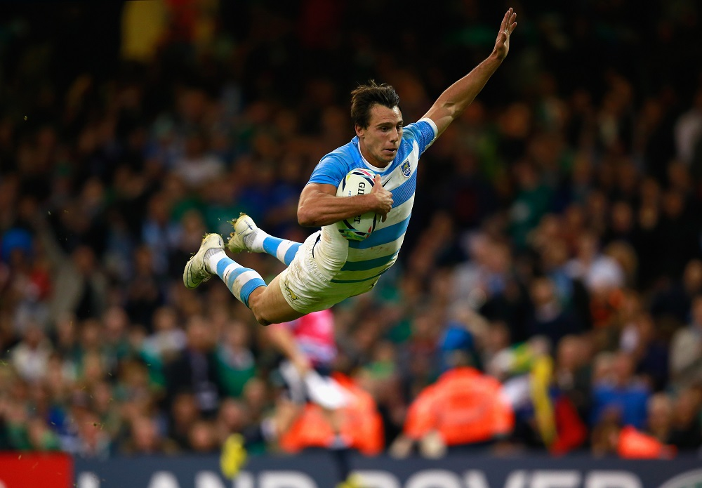 アルゼンチンのW杯4強入りを決定づけたイモフのフライングトライ(C)Getty Images