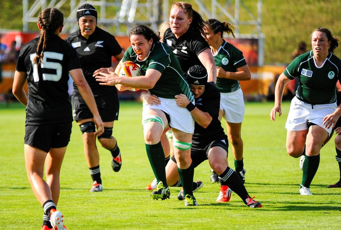 女子W杯でアイルランドが歴史的勝利! 女王NZ下す(Photo: P. Charlier /IRB)