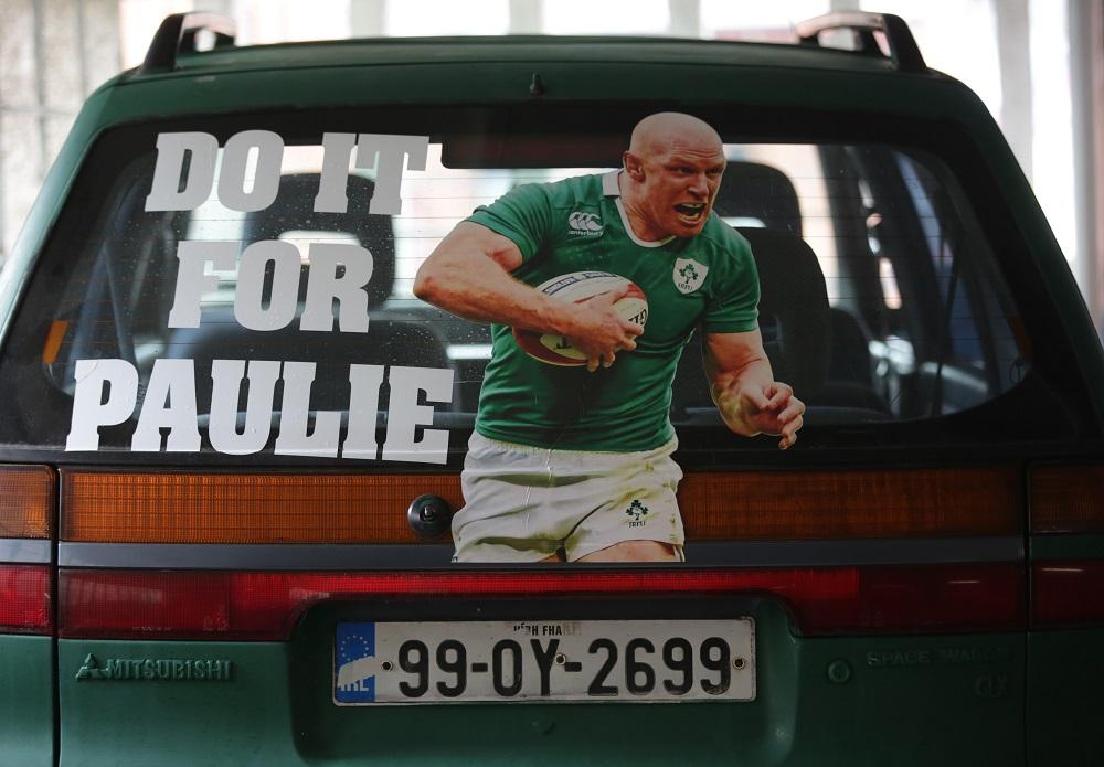 負傷離脱したオコンネル主将のためにも。勝利を願ったアイルランドファン(C)Getty Images