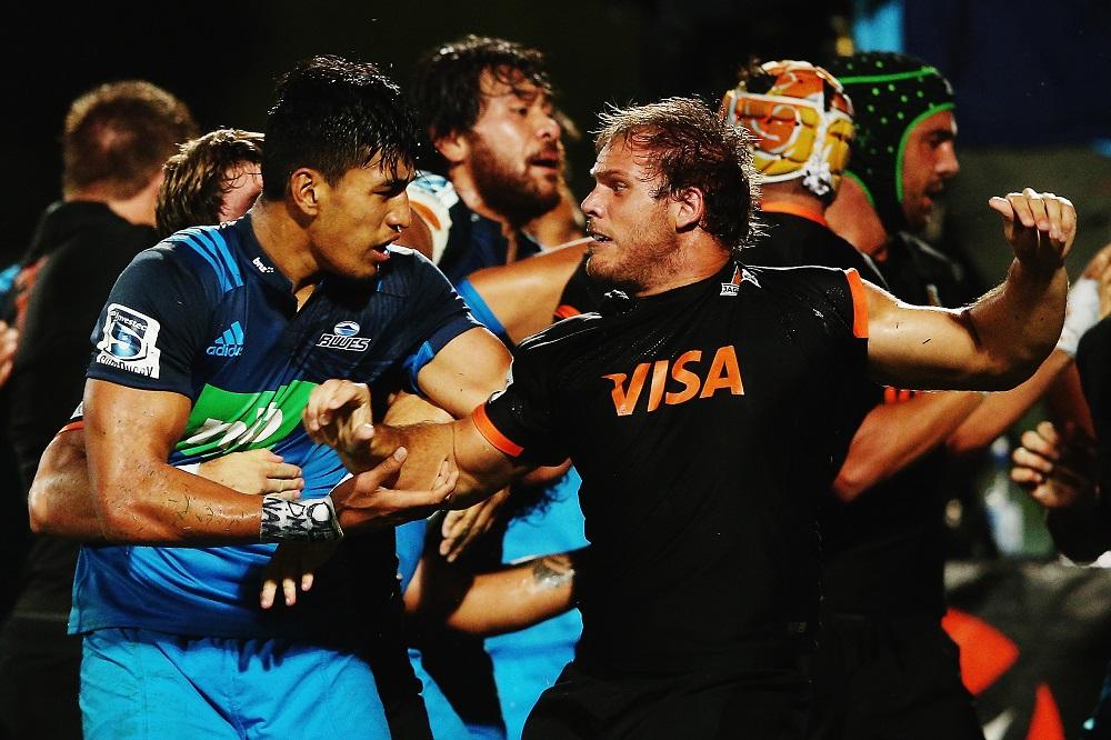 初参戦のスーパーラグビーで苦しむアルゼンチンのジャガーズ(黒)。4連敗(C)Getty Images