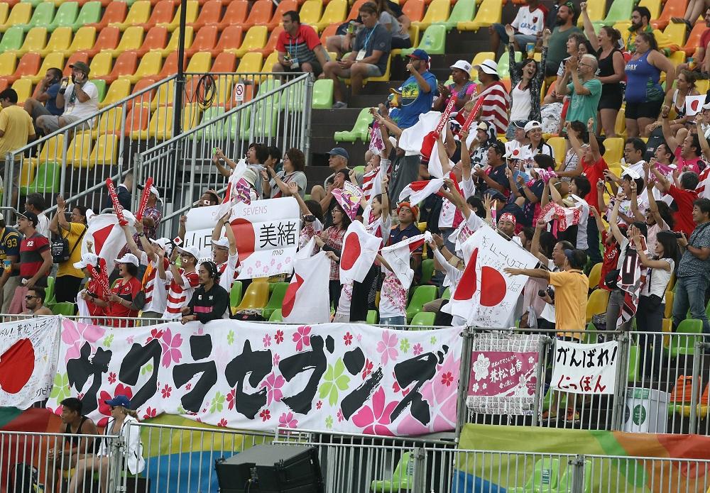 南米初開催となったリオ五輪でサクラセブンズに大きな声援を送った人々(C)Getty Images
