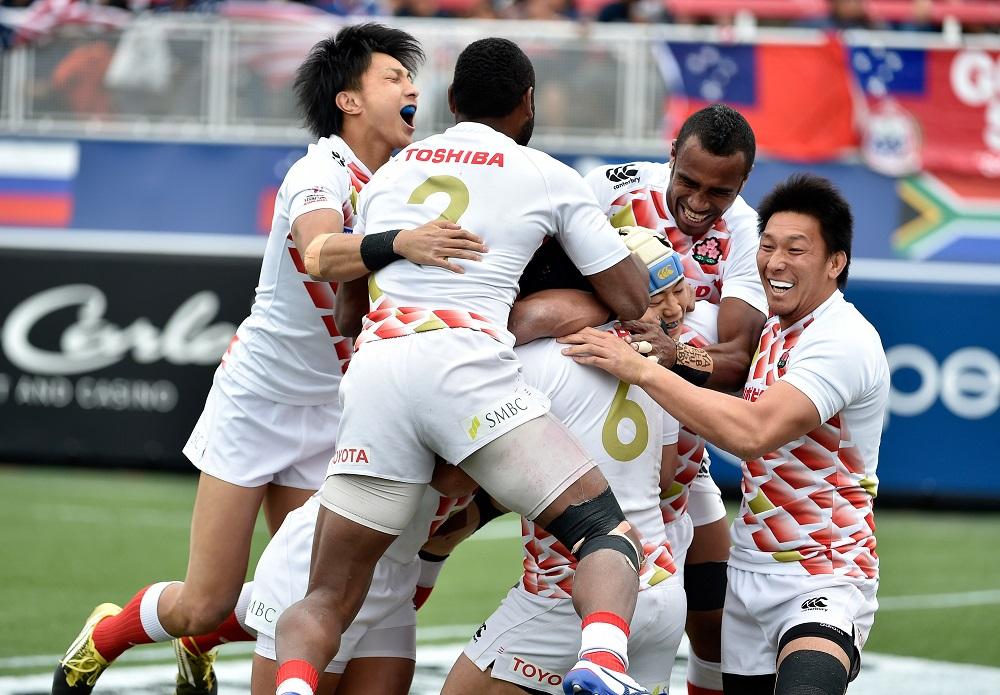 USAセブンズで日本8強入り。スコットランド戦で彦坂が劇的な決勝トライ(C)Getty Images