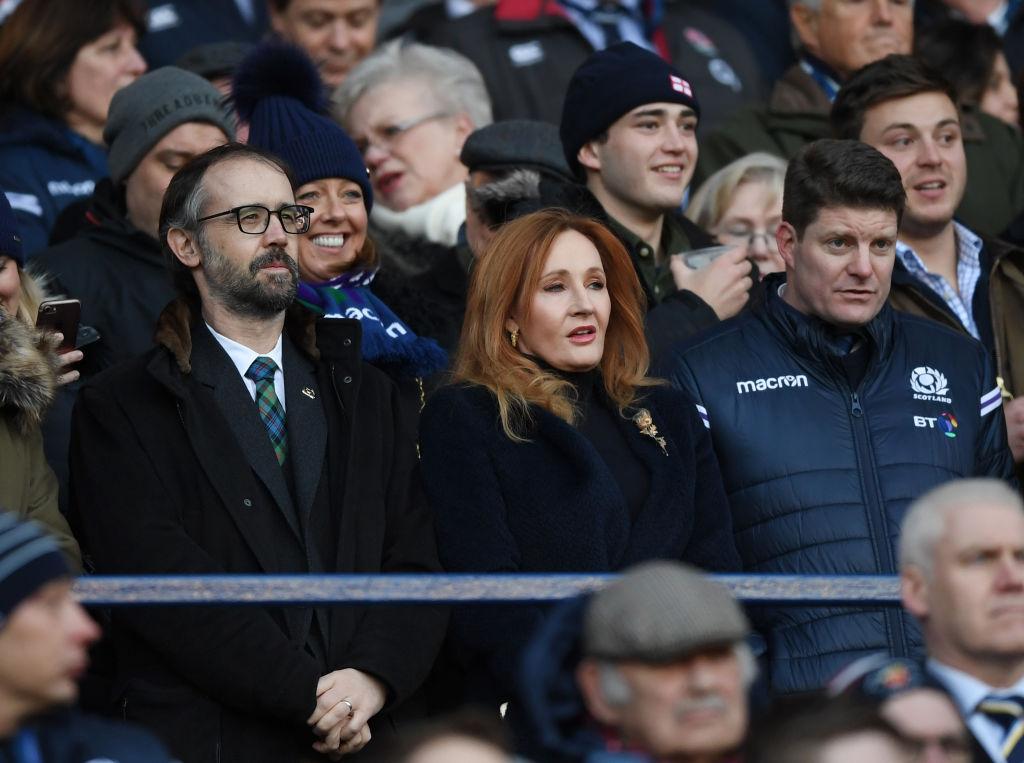 ハリー・ポッターの作者、J.K.ローリングさんもスコットランド対イングランドを観戦(C)Getty Images
