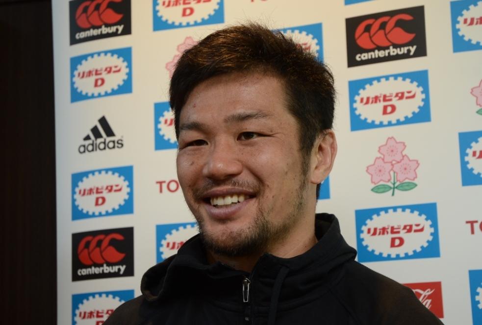 11月の大勝負へ向け始動した日本代表の廣瀬主将。責任感と闘志がにじむ(撮影:松本かおり)