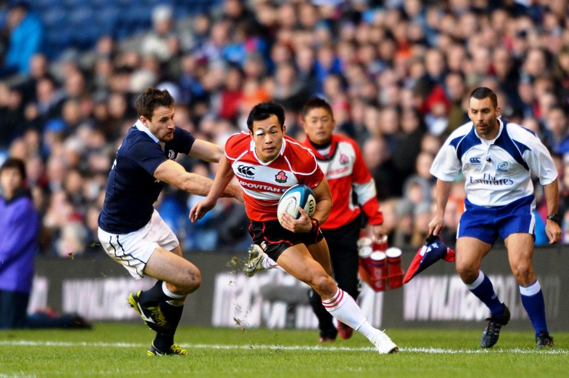 福岡堅樹が2トライを奪うも…。日本は17-42でスコットランドに敗れる(撮影/YUKA SHIGA)
