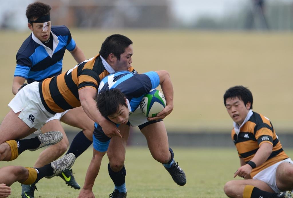 関東大学対抗戦Aで苦戦が続く慶大と日体大。全国大学選手権出場の可能性は残っている(撮影:松本かおり)