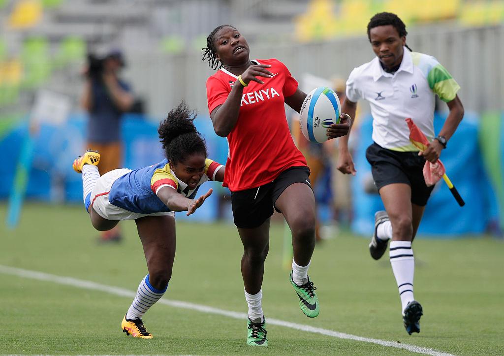 11位・12位決定戦でコロンビアの選手を振り切るケニアのランナー(C)Getty Images