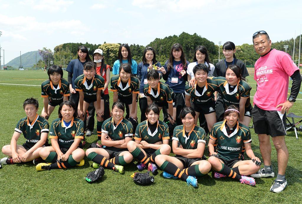 ワールドユース初日3連敗も、元気いっぱいの神戸甲北高校(撮影:Hiroaki. UENO)