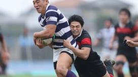 関東大学対抗戦A。明治大は成蹊大を87−0と圧倒し、開幕から3連勝(撮影:?塩隆)
