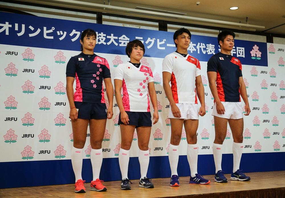 リオデジャネイロ五輪で着るラグビー日本代表の新ジャージー発表(撮影:松本かおり)