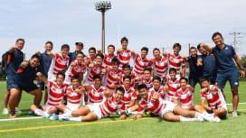 第25回 日韓中ジュニア交流競技会に参加したU17日本代表の選手、スタッフ(撮影:松本か…