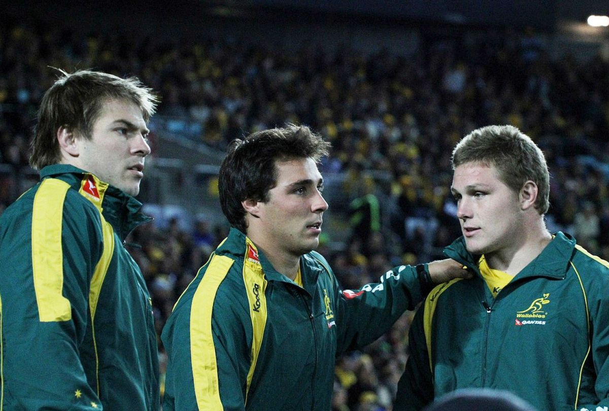 NZ第2戦で先発出場が決まったミッチェル(左)とフーパー(右)(撮影:Yasu Takahashi)