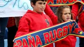 女子W杯でスペインを応援する子どもたち(Photo: INPHO/Oisin Kenir…