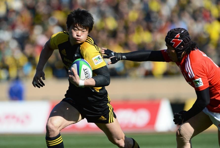 日本選手権決勝で先制トライを挙げたサントリーWTB村田大志。チームは3連覇達成(撮影:松本かおり)