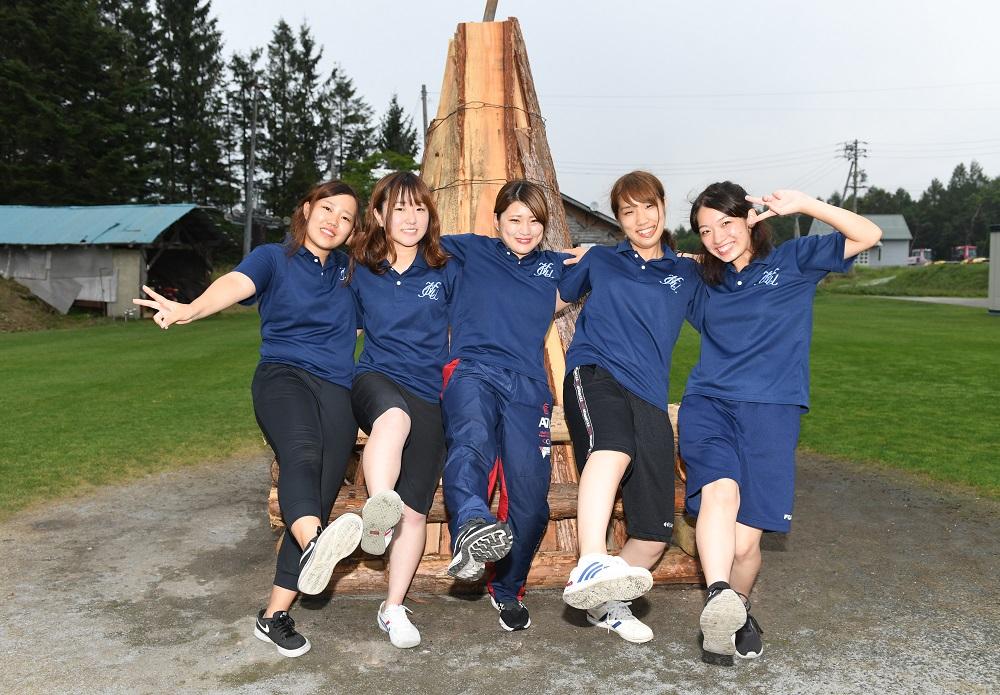大阪経済大MG。左から日浦さん、若山さん、平山さん、元島さん、玉置さん(C)Hiroaki.UENO