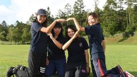 追手門学院大マネージャー。左から北川さん、高橋さん、森藤さん、岡田さん(C)Hiroak…