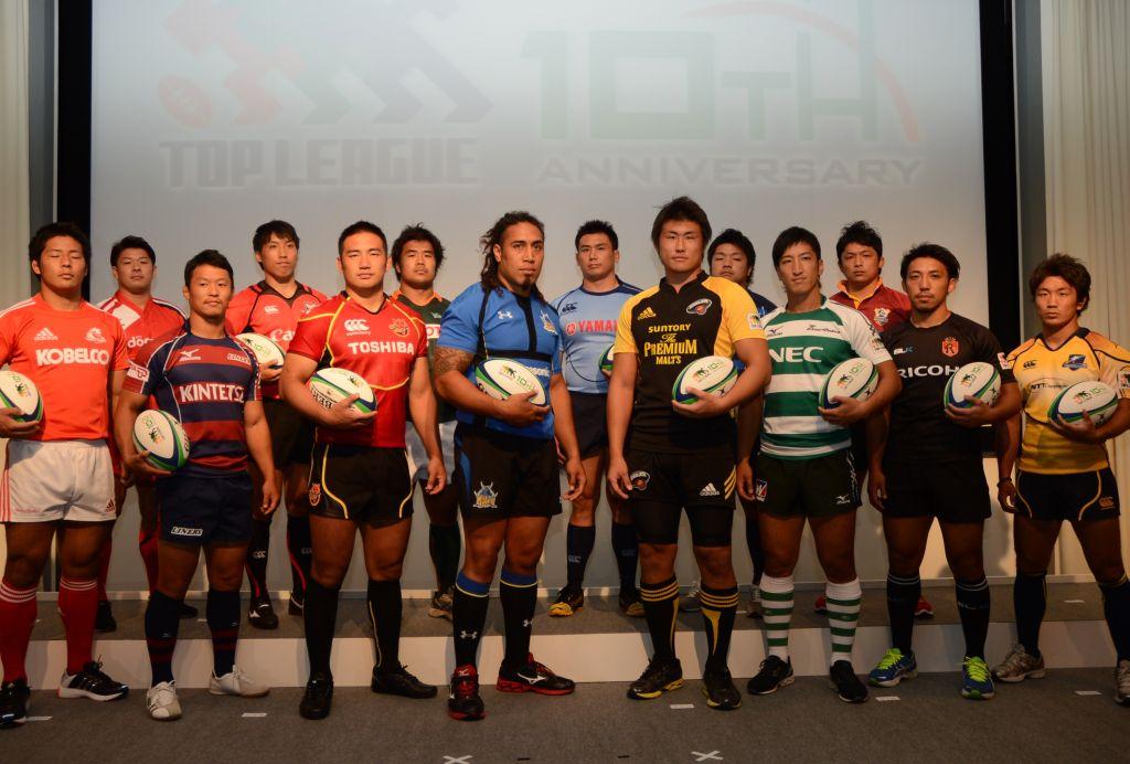 10季目のジャパントップリーグ、いよいよ開幕。各チームのリーダーたち(撮影:松本かおり)