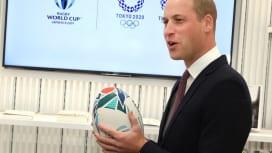 ラグビー好きのウィリアム英王子。ジャパン・ハウス・ロンドン開館式典にて(C)Getty …