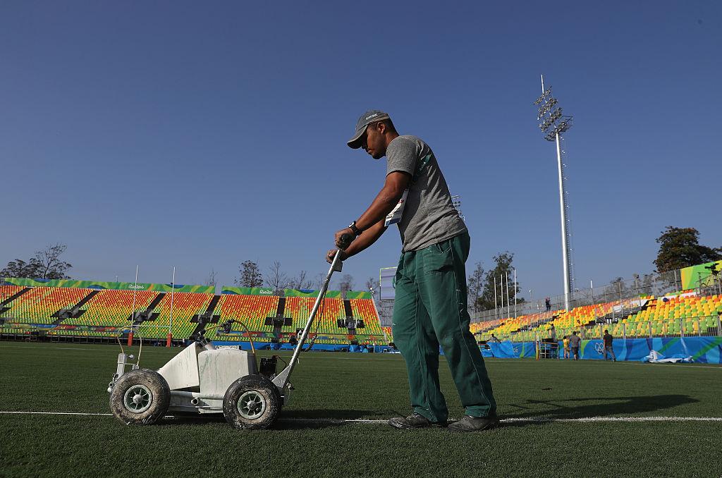 リオ五輪開幕。デオドロ・オリンピック・ラグビースタジアムの準備は整った(C)Getty Images