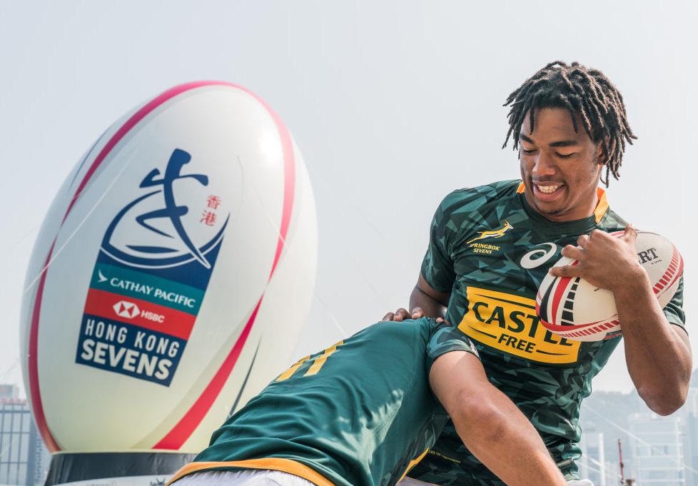香港セブンズ開幕目前。イベントに参加する南アフリカ代表の選手たち(C)Getty Images