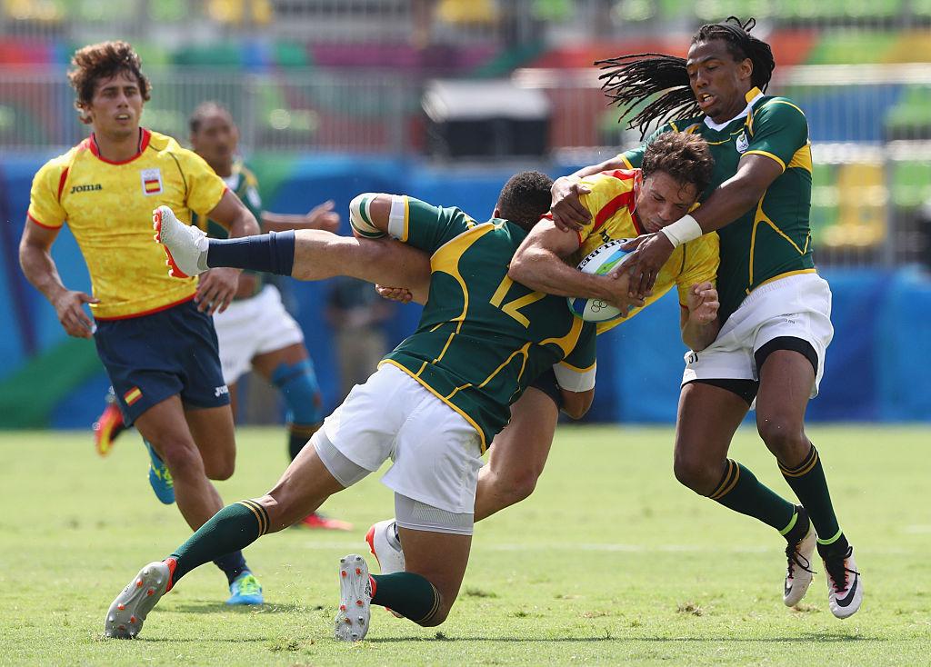 南アフリカの鉄壁のディフェンス。リオ五輪初日は2試合連続無失点(C)Getty Images