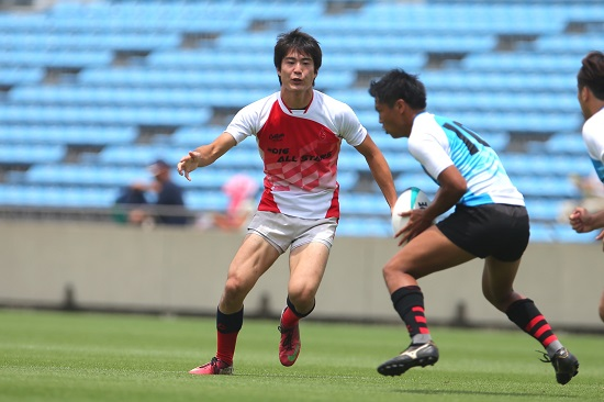 埼玉大ラグビー部・平澤一樹(セブンズ リーグ戦5部選抜)、秩父宮に立つ。