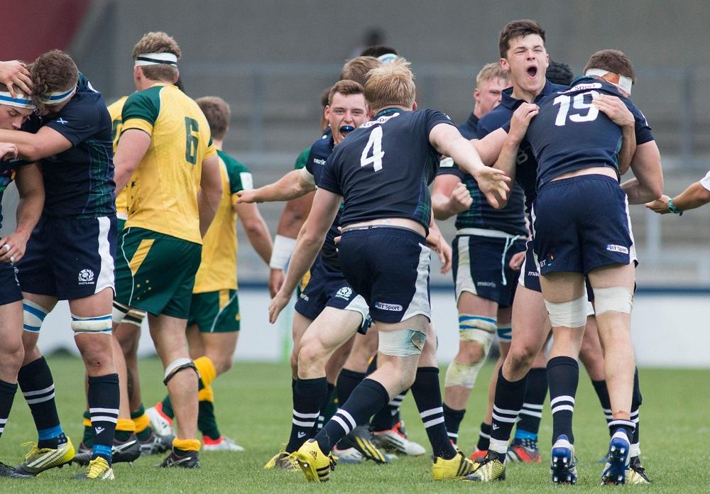 ワールドU20チャンピオンシップで初めて豪州を下したスコットランド(C)World Rugby