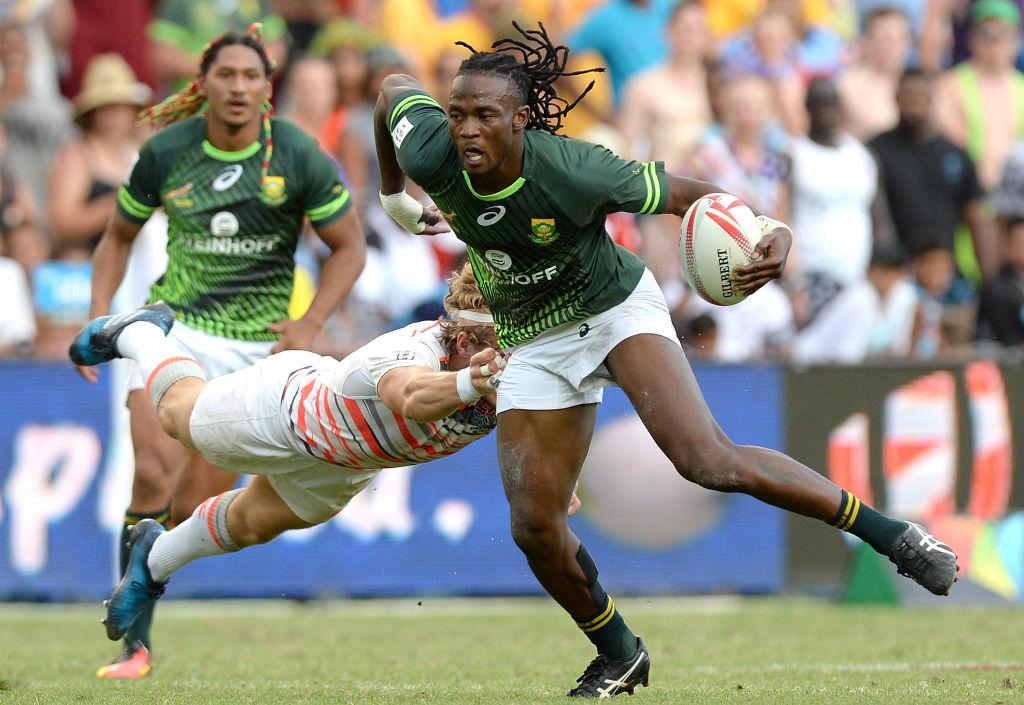 シドニーで今季セブンズシリーズ3冠目を獲得した南アフリカのセナトラ(C)Getty Images