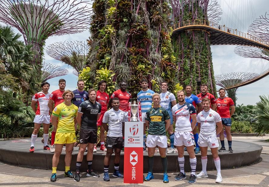 シンガポールセブンズで日本が強豪に挑む(C)HSBC Singapore Rugby Sevens