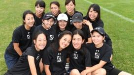 上智大学ラグビー部の女子マネージャー(C)Hiroaki.UENO
