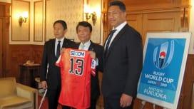 サンウルブズ指揮官が福岡県知事を表敬訪問 2月に北九州でドリームマッチ